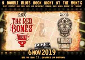 LIVE au Duke's le 6 novembre 2019 (Lausanne) avec Midnight Karma