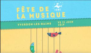 LIVE à la fête de la musique à Yverdon-les-Bains le 21 juin 2019